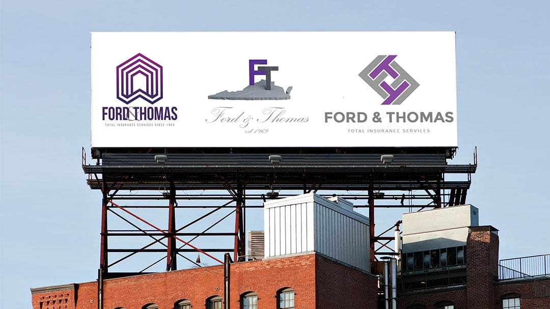 Billboard mockup for logo proofs