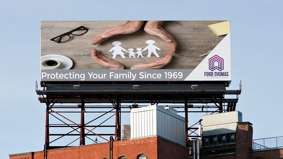 Logo Mockup of billboard for ford and thomas